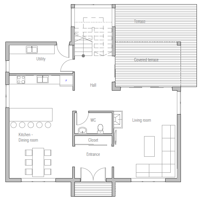 Home plan ch383 house plan for Who draws house plans near me