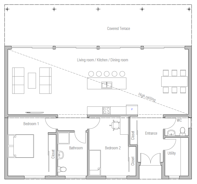 House floor plan ch403 house plan for 100 000 house plans