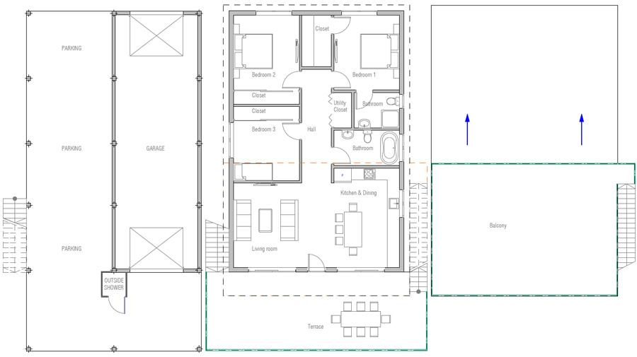 House floor plan 162 for 162 plan