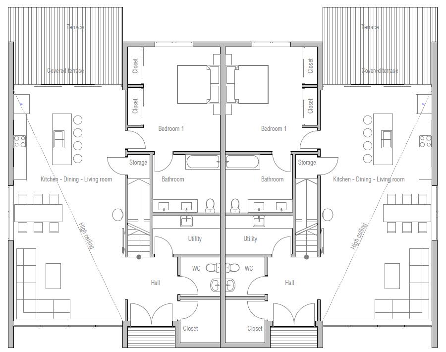 house design duplex-house-plan-ch429d 10