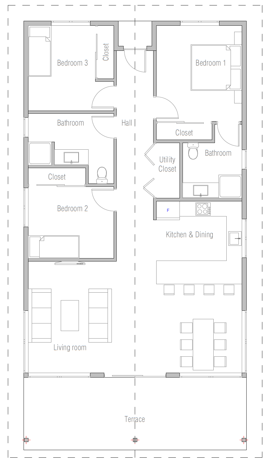 House floor plan 108 for House plans that cost 150 000 to build