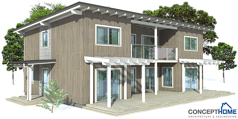 Modern House Ch50 2f 140m 3b Small House Plan With Three Bedrooms
