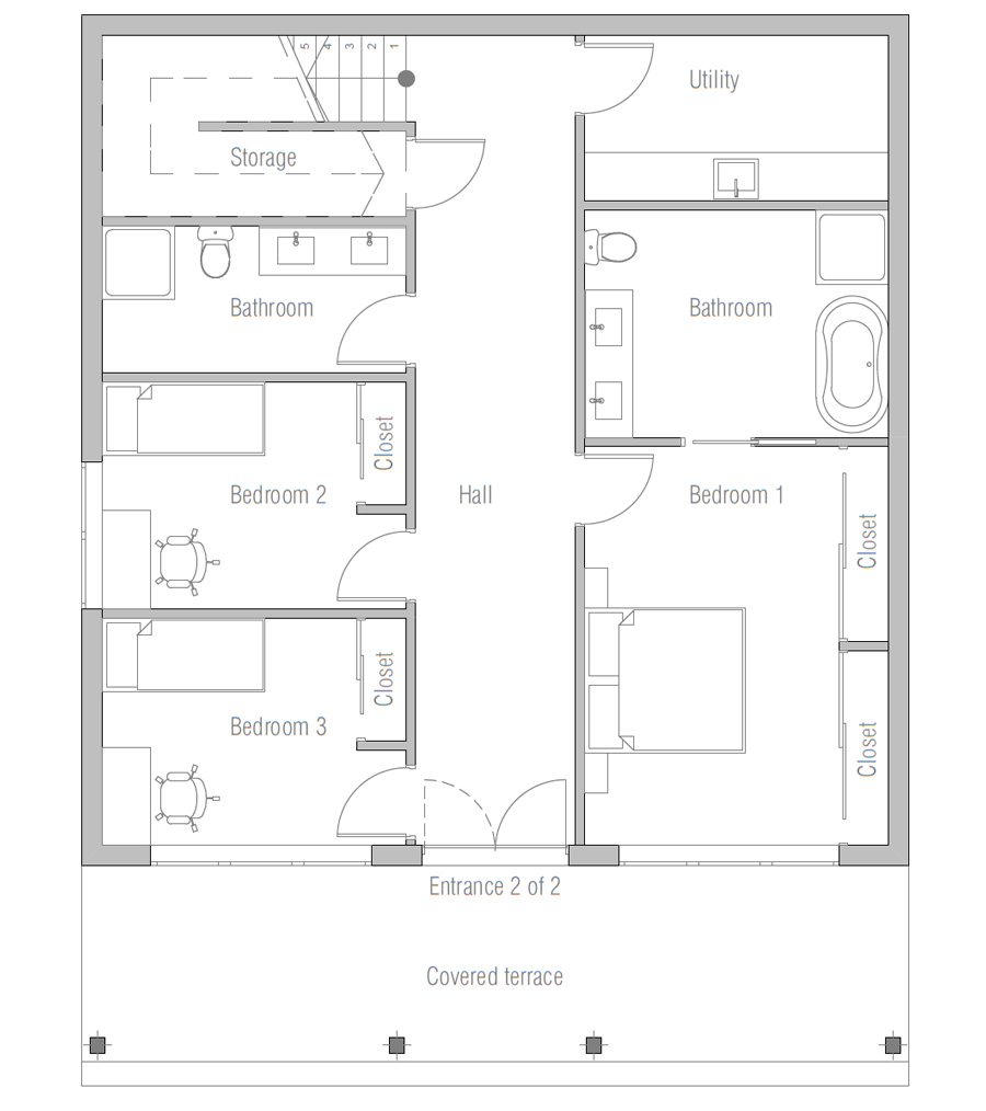 House floor plan 175 7 for 501 plan