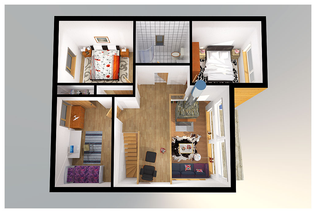 Small Modern House Ch9 2f 154m 4b Small House Plan With
