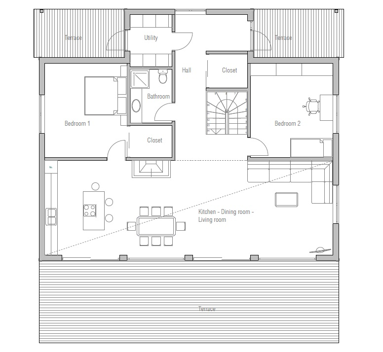 Small house ch7 2f 187m 4b four bedrooms house plan house plan - Bedroom house plans optimum choice ...