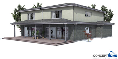 Duplex house plan oz66d with garage and large covered for Building duplex homes cost
