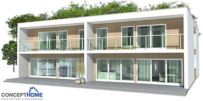 Duplex house 001 narrow lot duplex house for Cheap duplex plans