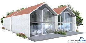 Duplex House Plan CH108D