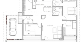 Small House Plan CH23 detailed building info Floor plans for