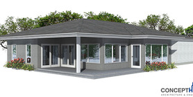 Modern House Plan Oz74 To Narrow Lot In One Level