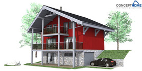 sloping lot house plans 01 home plan ch58.JPG