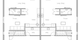 duplex house 10 house plan ch288d.png