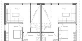 duplex house 12 house plan ch99d.png