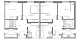 duplex house 10 house plan ch349d.png