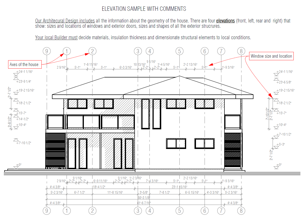 Elevation In Plan : Sample files house plans designs
