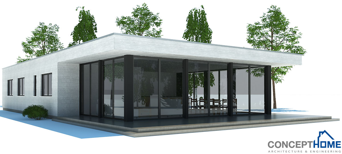 Small House Plan Ch181 In Modern Contemporary Architecture Small Home Design